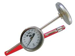 THERMOMETER FAT FRYING STEEL STEM - 130mm (50 to 200 DEG)