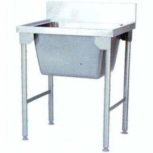 SINGLE BOWL POT SINK 900X650X900MM (BOWL SIZE 600X500X300) INCL LEGS AND SLATTED