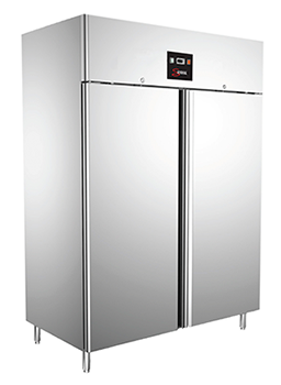 COMMERCIAL KITCHEN REFRIGERATOR   DOUBLE DOOR   ST. STEEL