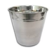 BAR ICE BUCKET S/STEEL NO KNOB 1LT