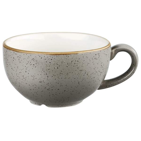 CAPPUCCINO CUP - 22.7cl  - PEPPERCORN GREY  (PACK OF 6)