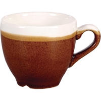 CHURCHILL MONOCHROME ESPRESSO CUP CINNAMON BROWN 89ML (IMPORT ONLY 6 WEEKS LEAD TIME)