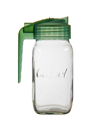 CONSOL MILK JUG WITH ASSORTED COLOURED LIDS (250ML) ( SOLD IN MIN PACKS OF 12)