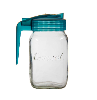 CONSOL MILK JUG WITH ASSORTED COLOURED LIDS (500ML) (SOLD IN MIN PACKS OF 12)