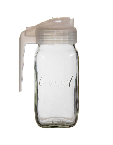 CONSOL MILK JUG WITH FROSTED WHITE PLASTIC LID (1L) (SOLD IN MIN PACKS OF 12)