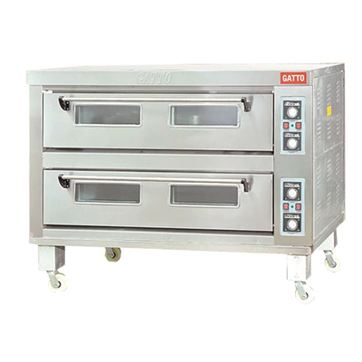 GATTO DOUBLE DECK OVEN 2 DECK 3 TRAY WITH STEAMER  (3 PHASE - 50HZ)