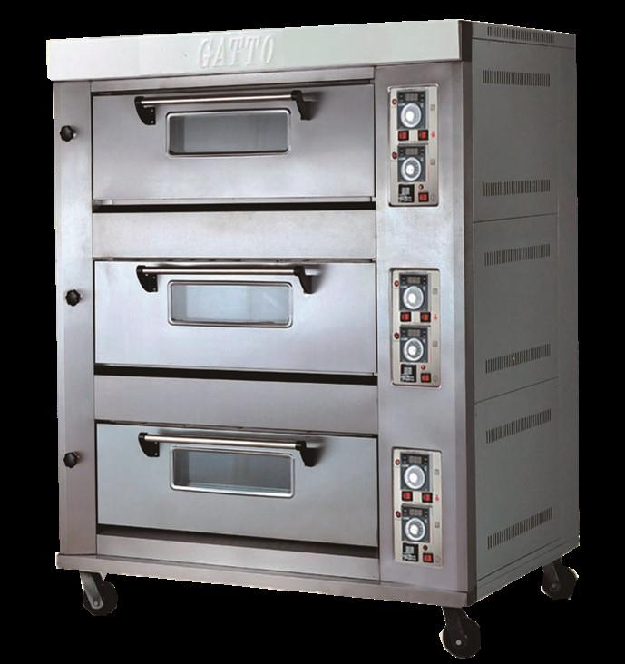 GATTO 3 TRAY TRIPLE DECK OVEN WITH STEAMER