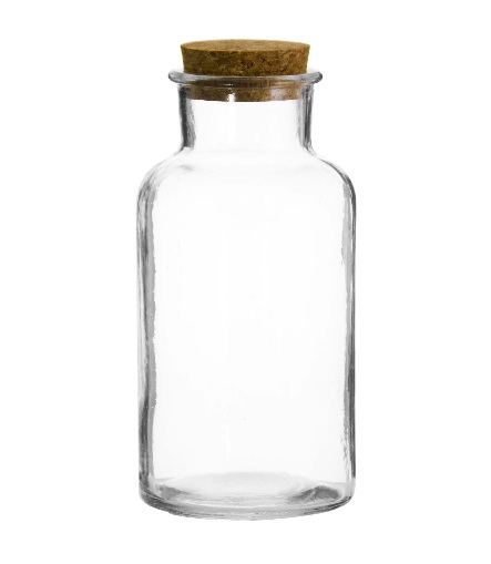 BOTTLE WITH CORK LID 58MM:DX110MM 150ML (PACK OF 12)