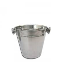 BAR BUTLER ICE BUCKET WITH KNOBS S/STEEL (1L) (140MM:DX135MM:H)