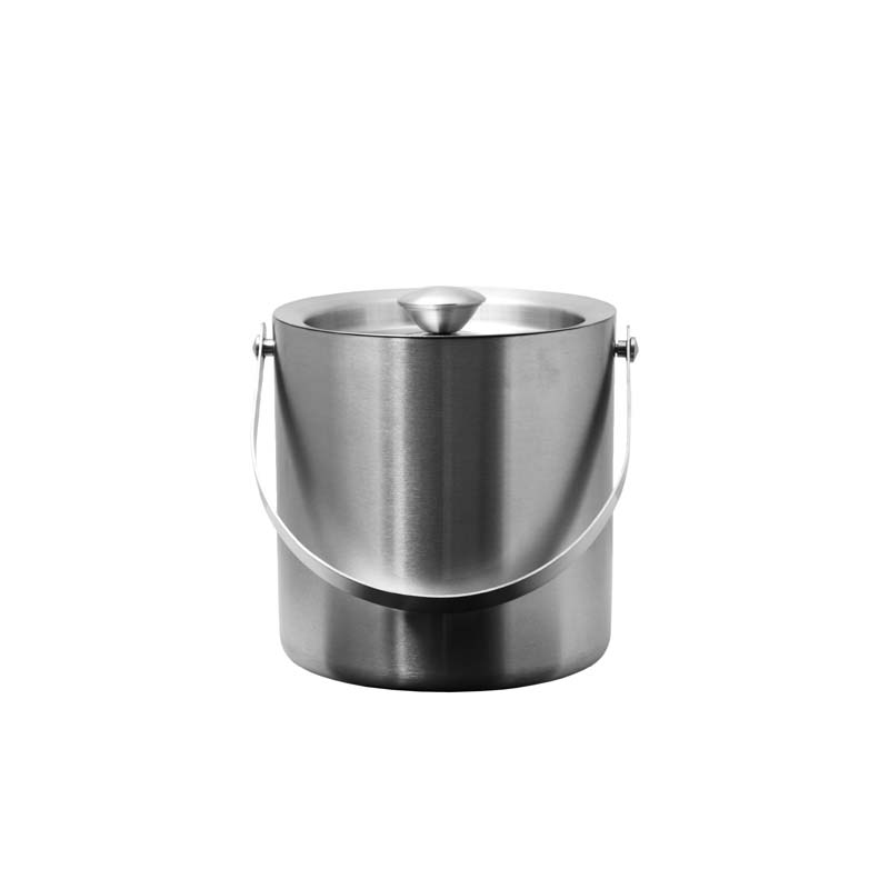 BAR BUTLER DOUBLE WALLL ICE BUCKET WITH LID S/STEEL (1.7L)