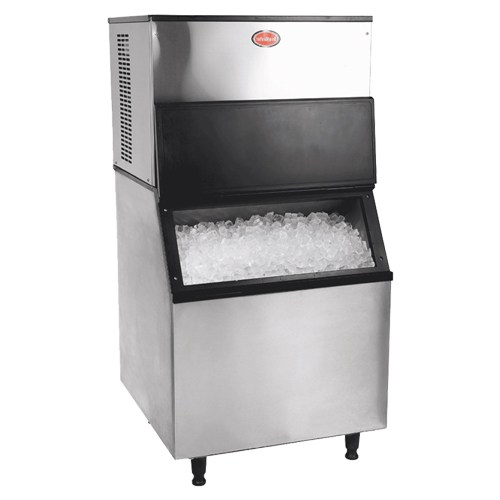 ICE MAKER 450KG AUTOMATIC STAINLESS STEEL  (INCLUDING BIN) - PRICE EXCLUDES DELIVERY OUTSIDE GAUTENG