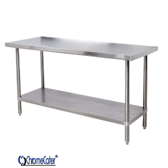 PLAIN STAINLESS STEEL TABLE CC1.8P