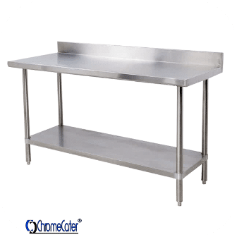 SPLASH- BACK STAINLESS STEEL TABLE CC1.8SB
