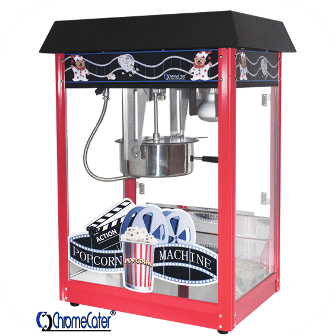 POPCORN MACHINE 8OZ POP6A-B RED & BLACK (PRICE EXCLUDES DELIVERY OUTSIDE GAUTENG)
