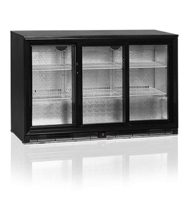BACK BAR COOLER TEFCOLD SLIDING 3 DOOR 1355×520×870MM