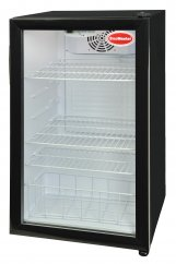 UNDER COUNTER  BLACK FREE STANDING ONE DOOR BEVERAGE COOLER 110 LT (500X520X840)