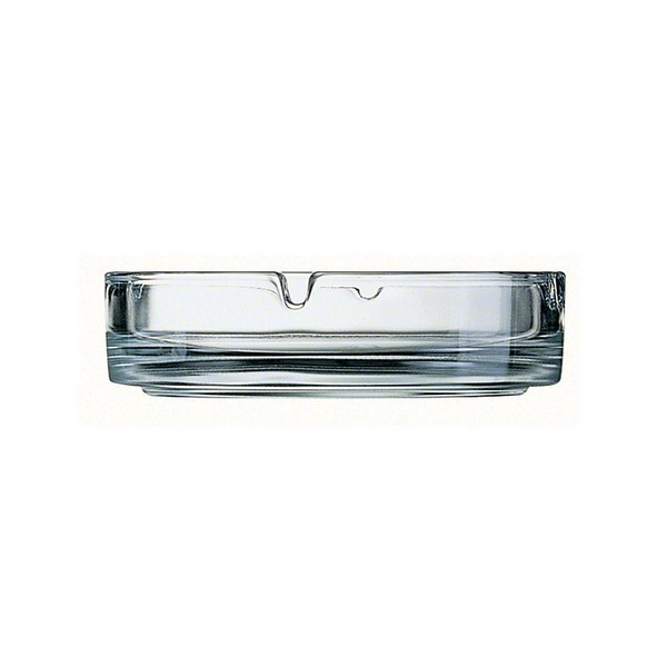 ASHTRAY CLUB CLEAR 10CM  (PACK OF 12)