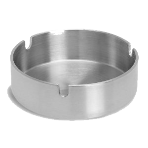 (6 PACK) ASHTRAY SLOTTED S/STEEL CLUB 10CM