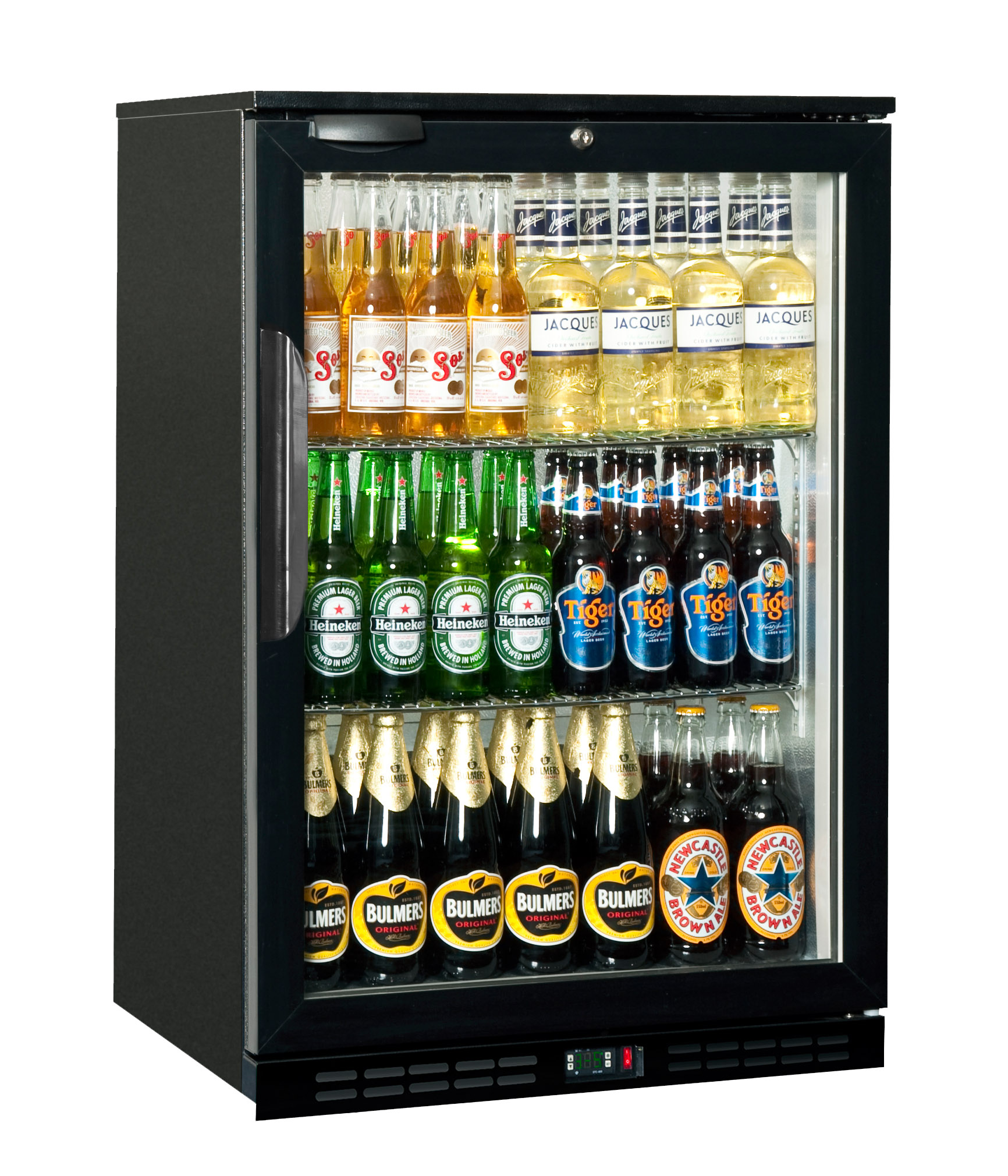 BACK BAR COOLER SALVADORE - SINGLE HINGED DOOR   (DELIVERY IN GAUTENG & WESTERN CAPE ONLY)