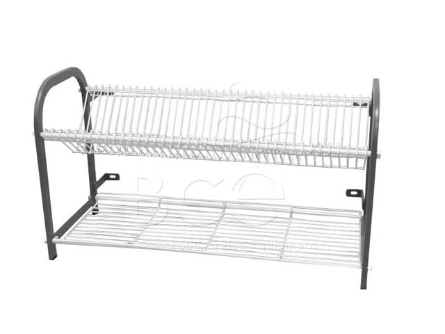 CROCKERY RACK WALL MOUNTED - 2 SHELF - 1105mm (53 PLATES)