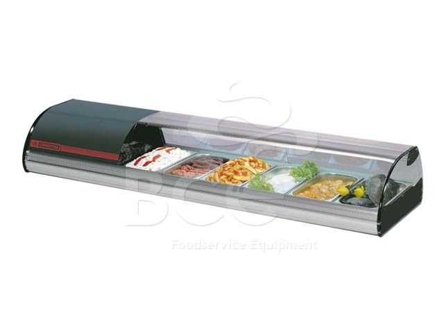 COLD FOOD BAR - COMERSA 8 INSERT - BLACK   (DELIVERY IN GAUTENG & WESTERN CAPE ONLY)