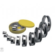 ROUND CUTTER SET S/STEEL -  PLAIN 10 PIECE