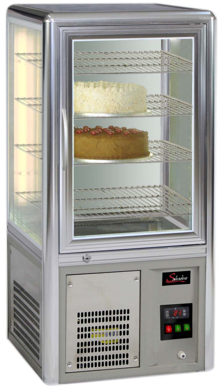 CAKE DISPLAY FRIDGE SALVADORE - TABLE TOP - ROTATING SHELVES    (DELIVERY IN GAUTENG & WESTERN CAPE ONLY)