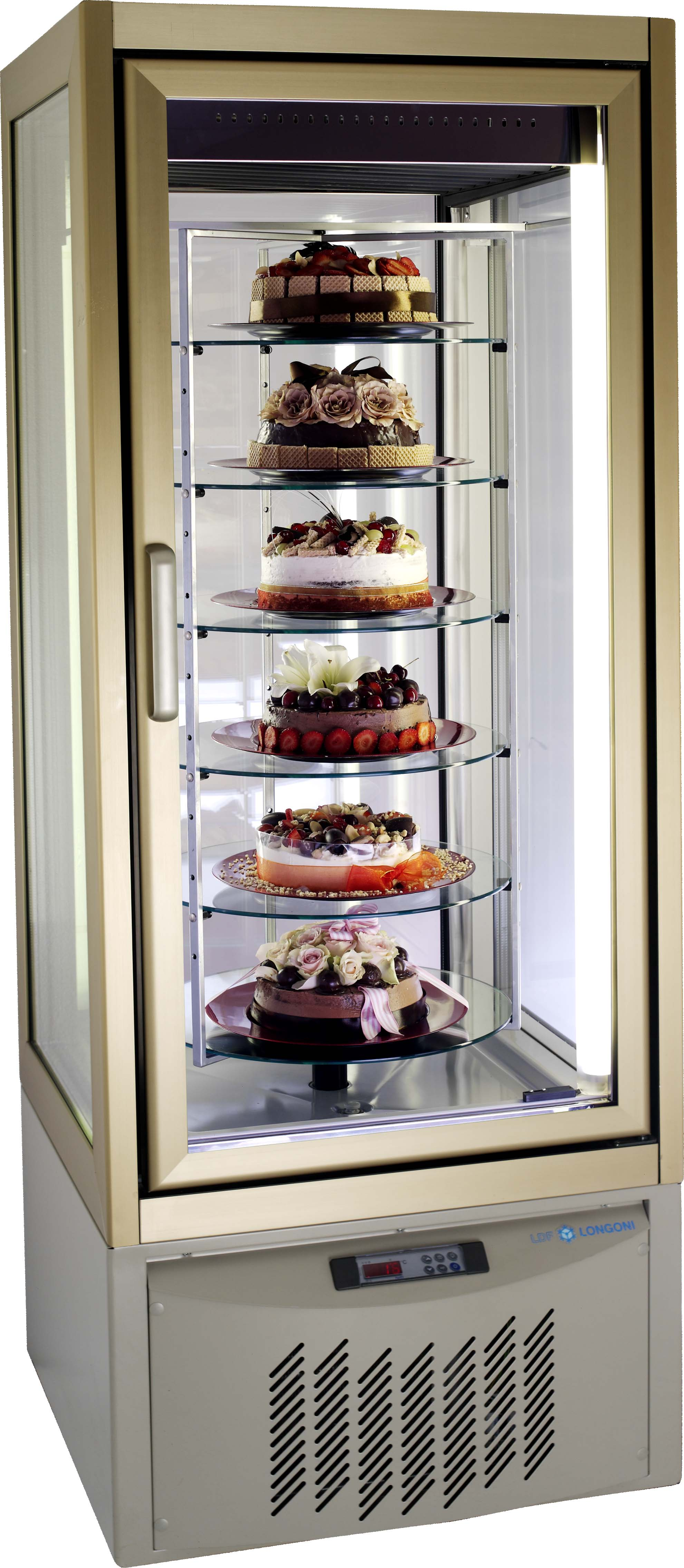 CAKE DISPLAY FRIDGE LONGONI - 420Lt (BRONZE)  (DELIVERY IN GAUTENG & WESTERN CAPE ONLY)