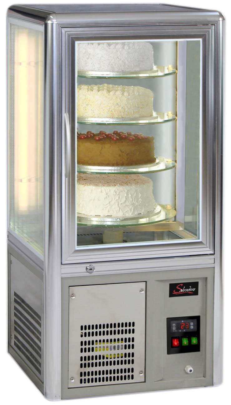 CAKE DISPLAY FRIDGE SALVADORE -TABLE TOP - FIXED SHELVES   (DELIVERY IN GAUTENG & WESTERN CAPE ONLY)