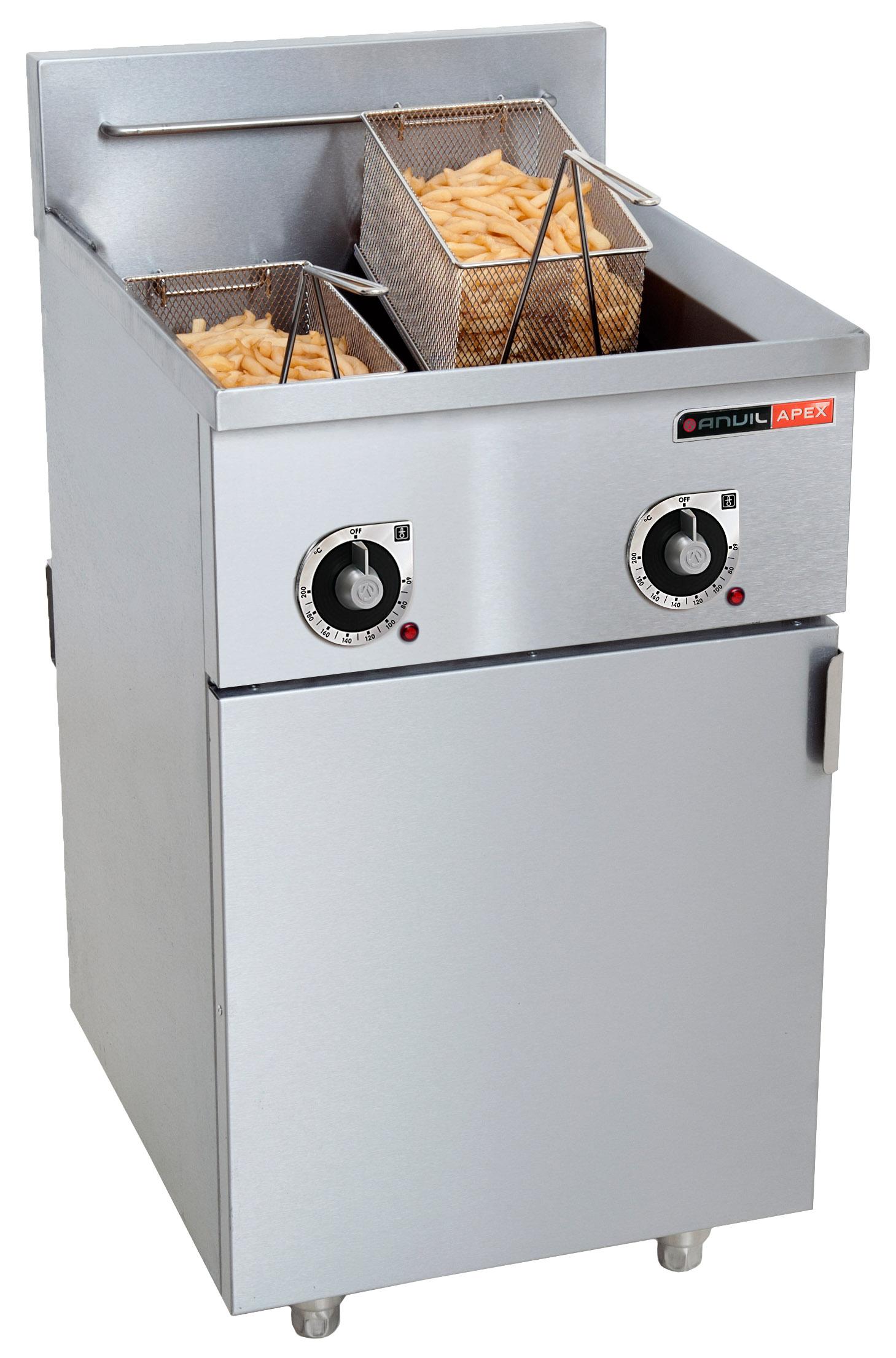 Fryers Fish Fryer Anvil 2 X 10lt 16 5kw Elec