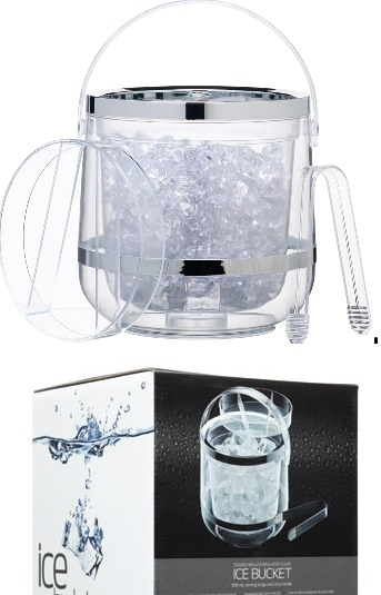 Bar Craft Acrylic Double Walled Insulated Ice Bucket, Gift Boxed
