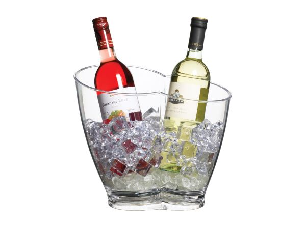 Bar Craft Clear Acrylic Drinks Pail / Wine Cooler, Labelled
