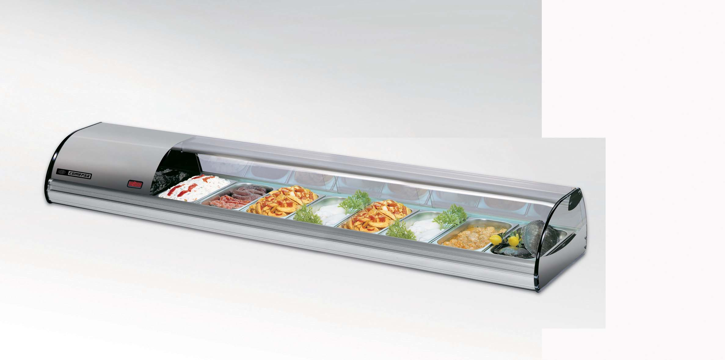 COLD FOOD BAR - COMERSA 8 INSERT - SILVER   (DELIVERY IN GAUTENG & WESTERN CAPE ONLY)