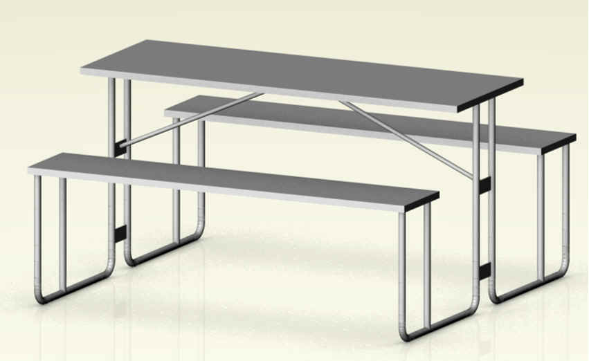 CANTEEN TABLE 6 SEATER (EXCLUDES DELIVERY OUTSIDE GAUTENG)